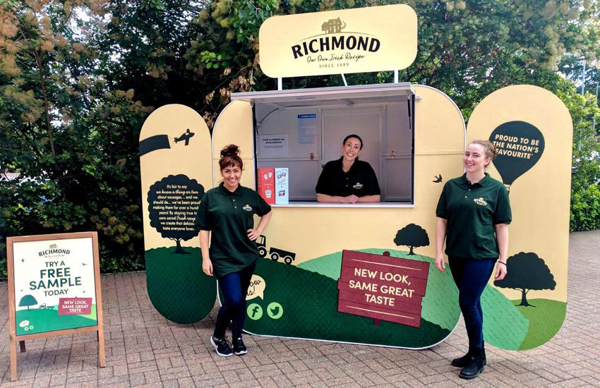 Richmond Sausages - Product Sampling, Sampling Staff & Sampling Pods