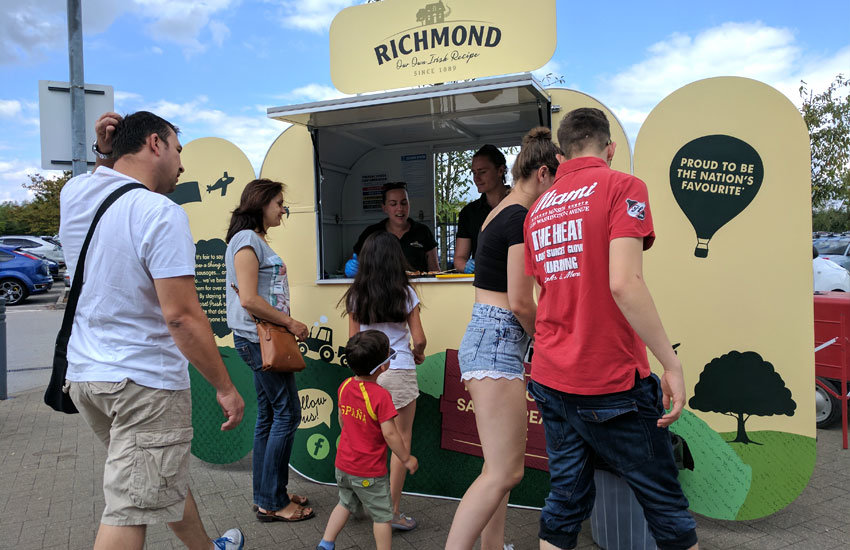 Richmond Sausages - Product Sampling, Sampling Staff & Sampling Pod Hire