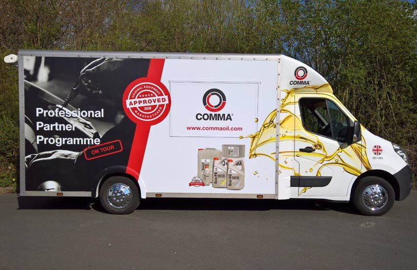 Comma Oil Promo Van - Promo Vehicle, Experiential Marketing & Promo Staff