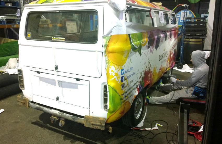 Echo Falls Promo Camper Van - Promo Vehicle, Experiential Marketing & Promo Staff