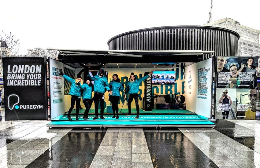 An experiential marketing campaign by iMP for PureGym
