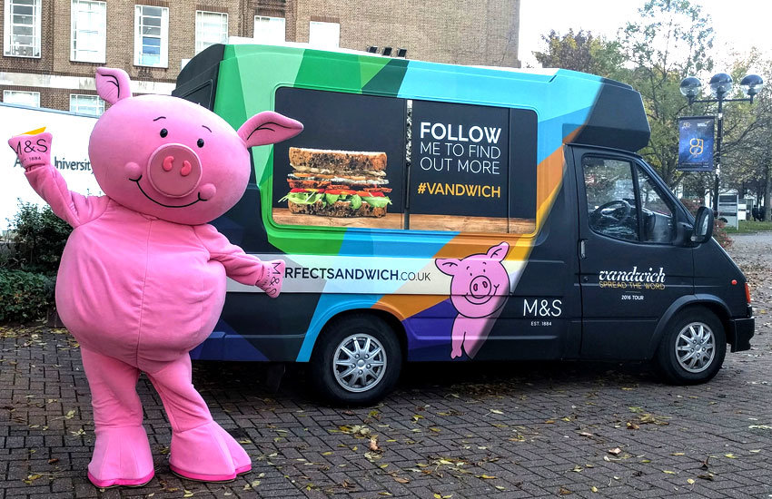 M&S ice cream van hire and promo vehicles Leeds