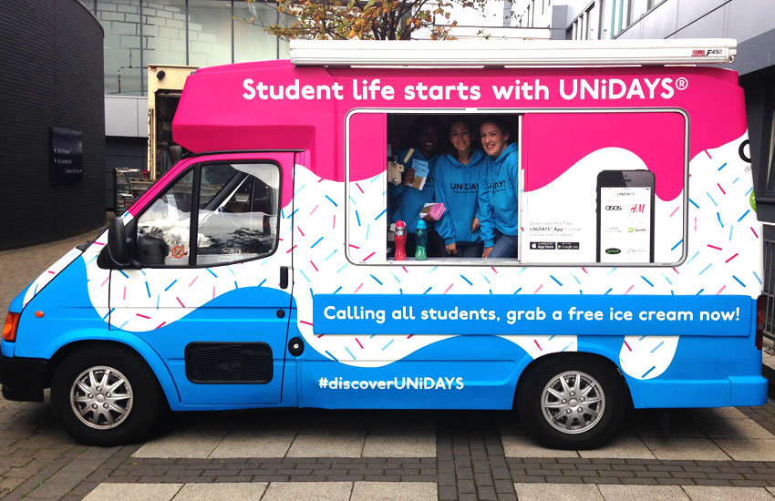 UNiDAYS Ice cream van hire, promo vehicle hire