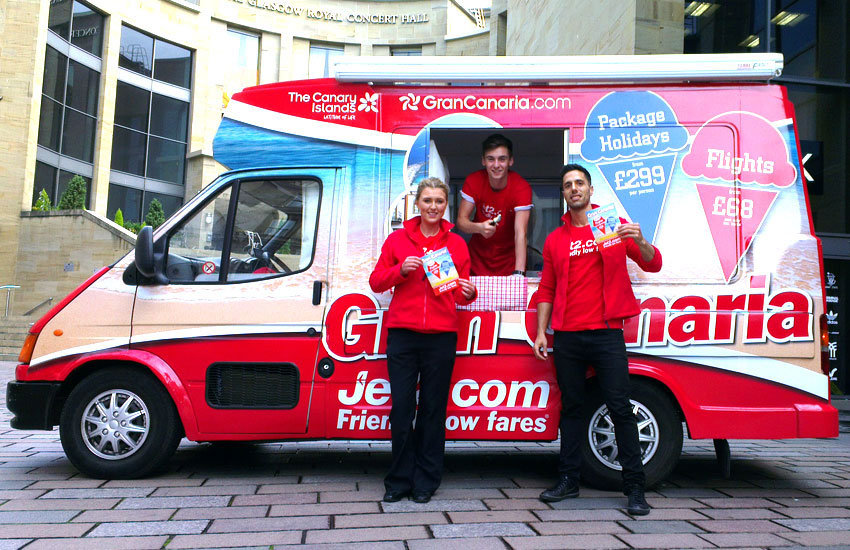 GranCanaria Ice cream van hire, promo vehicle hire