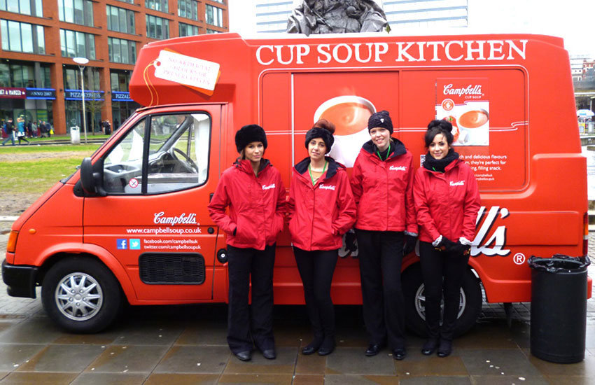 Cup Soup Ice cream van hire, promo vehicle hire