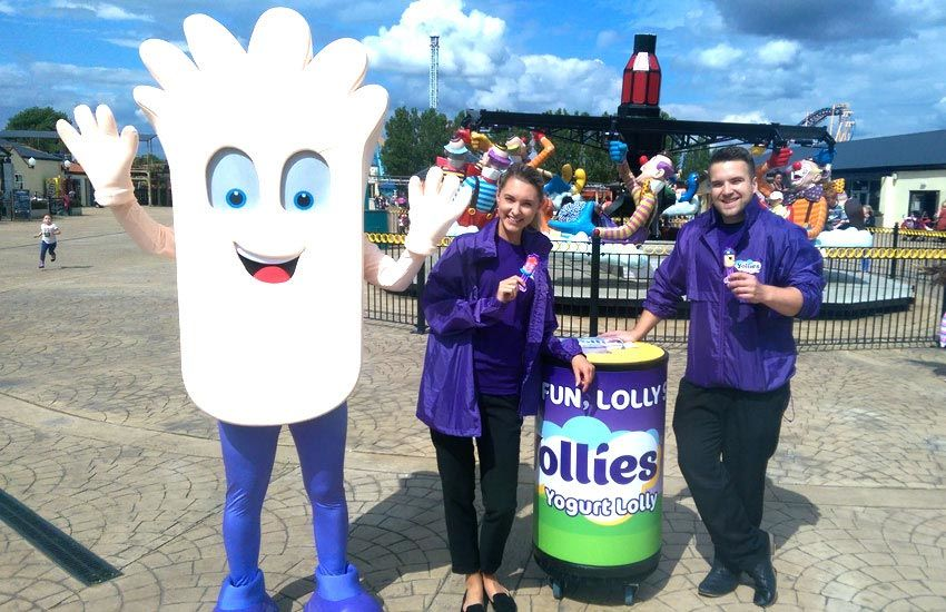 iMP sampling agency distributing new Yollies for Kerry Foods at theme parks across the UK