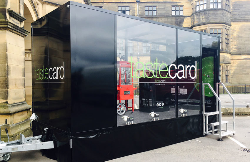 Tastecard Promo Trailer - Promo Vehicle, Experiential Marketing & Promo Staff