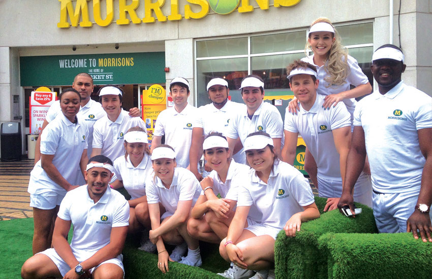 iMP flash mob staff for Morrisons