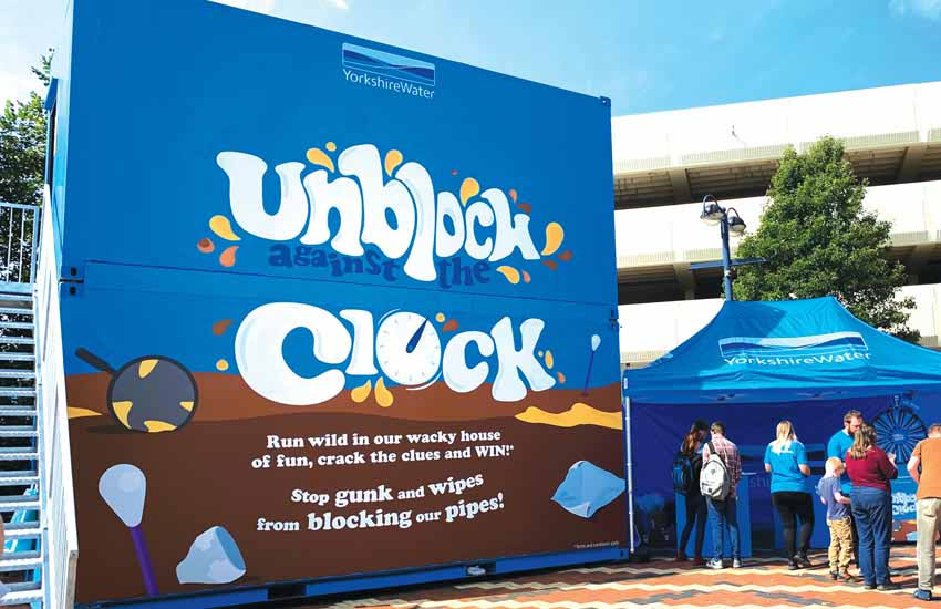 iMP experiential agency shipping container brand activation for Yorkshire Water