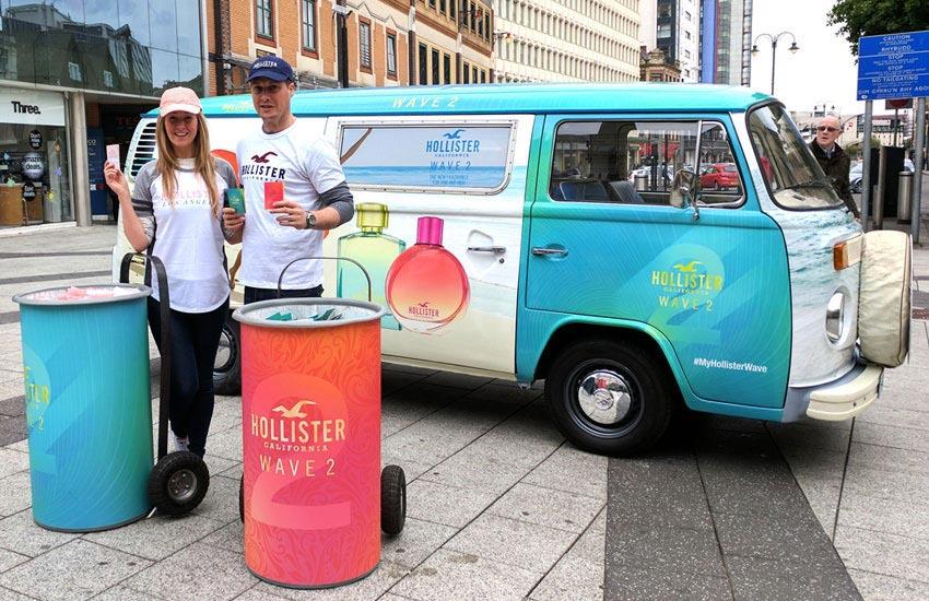 City centre sampling experiential tour for Hollister