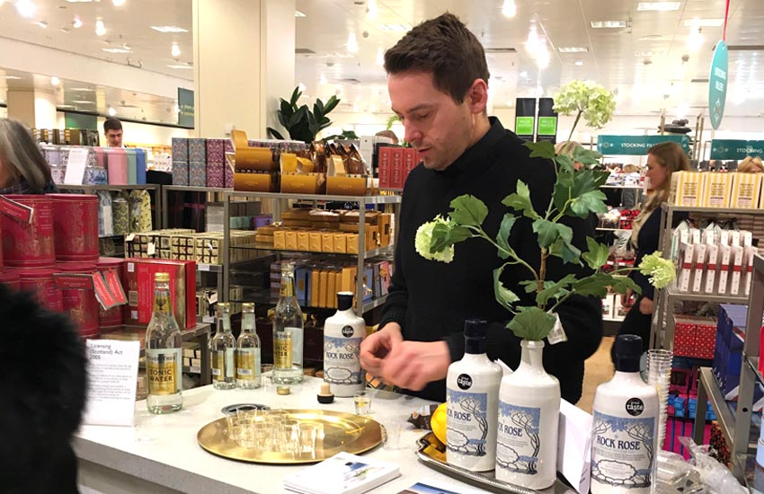 Supermarket & in-store experiential sampling for Rock Rose Gin
