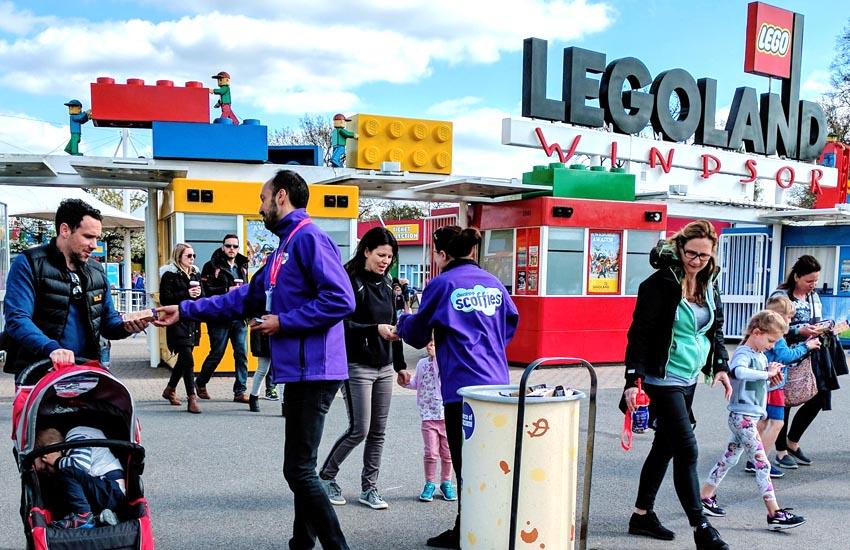 Theme park sampling team at Legoland Windsor
