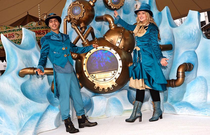 Christmas costume staff