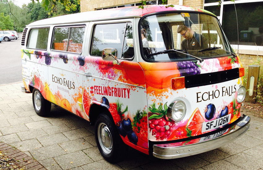 Promotional Camper Van for Echo Falls